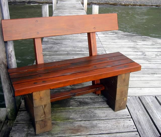 Timber Frame Tools » Windproof Dock Bench (outdoor bench)