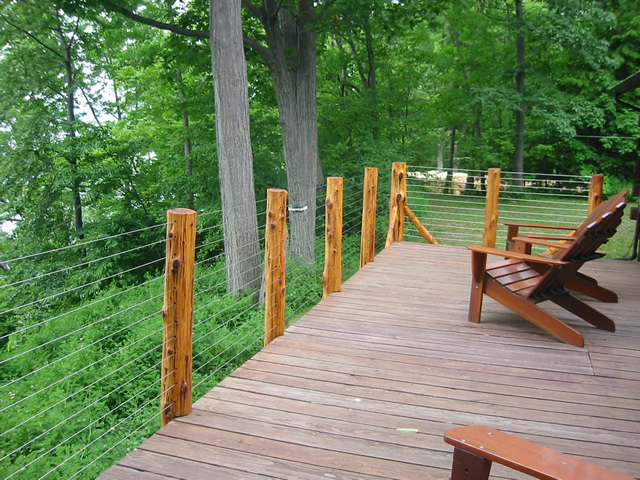 Timber Frame Tools 187 Rustic Wooden Deck Railing