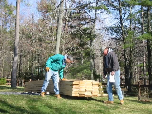 Timber Frame Tools » Rough Sawn Lumber Delivery