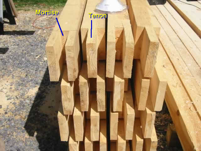 here are the mortises and tenons they will be held in place by the oak pegs so carefully made early in the project