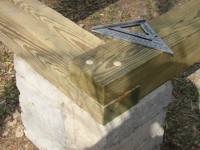 Timber Frame Tools » The Foundation (sill plates and joists)